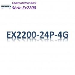 Juniper EX2200 Switch 24G_4SFP_PoE+(405w)