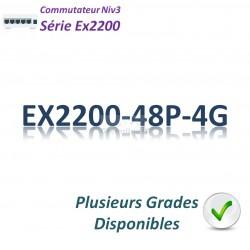 Juniper EX2200 Switch 48G_4SFP_PoE+(405w)
