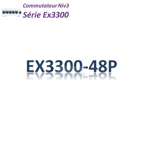 Juniper EX3300 Switch 48G_4SFP/SFP+_PoE+(740w)