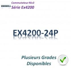 Juniper EX4200 Switch 24G_24PoE_1 slot