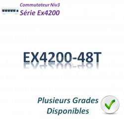 Juniper EX4200 Switch 48G_8PoE(130w)_1 slot