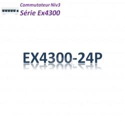 Juniper EX4300 Switch 24G_4QSFP+_PoE+(550w)_AFO_1slot