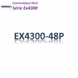 Juniper EX4300 Switch 48G_4QSFP+_PoE+(900w)_AFO_1slot