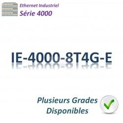 Cisco Industrial 4000 Switch 8x 10/100_4x GE SFP combo _LAN Base