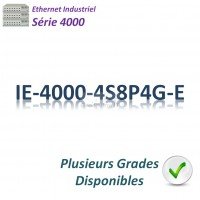 Cisco Industrial 4000 Switch 8x 10/100_4x FE SFP_4x GE SFP combo_4x PoE+_LAN Base