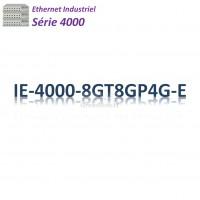Cisco Industrial 4000 Switch 16G_4x GE SFP combo_8x PoE+_LAN Base
