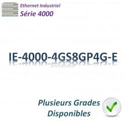 Cisco Industrial 4000 Switch 8G_2x GE SFP_4x GE SFP combo _8x PoE+_LAN Base