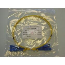 Jarretière optique duplex Monomode OS2 SC-SC 1m
