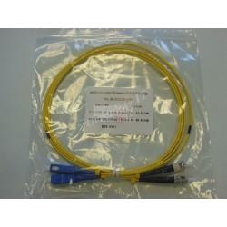 Jarretière optique duplex Monomode OS2 SC-ST 2m