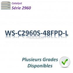 Catalyst 2960 Switch 48G_2SFP/SFP+_PoE+(740w)_LAN Base