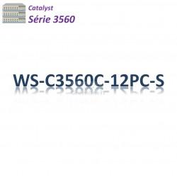 Catalyst 3560 Switch 12x 10/100_2SFPcombo_PoE+(124w)_IP Base
