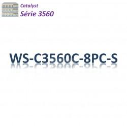 Catalyst 3560 Switch 8x 10/100_2SFP combo_PoE+(124w)_IP Base