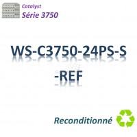 Catalyst 3750 Refurbished Switch 24x 10/100_2SFP_ PoE(370w)_IP Base