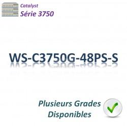 Catalyst 3750 Switch 48G_4SFP_PoE(370w)_IP Base