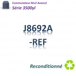HPE/Aruba 3500 Refurbished Switch 24G_4SFP_PoE(398w)_1slot