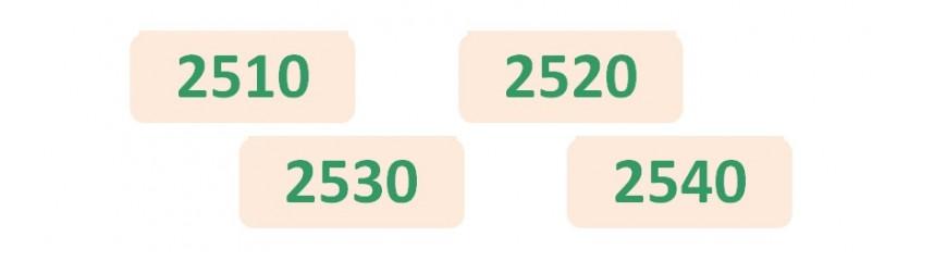 Niveau 2 Séries 2510_2520_2530_2540
