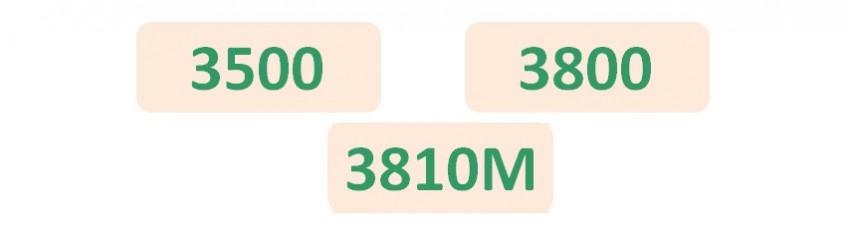 Niveau 3 Avancé Séries 3500_3800_3810M